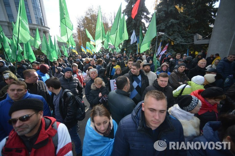 Митинг сторонников Геннадия Корбана под изолятором СБУ