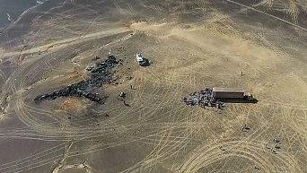 Поисковые работы на месте крушения российского самолета Airbus A321 в Египте