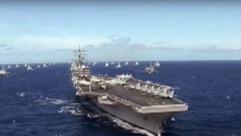 Авианосец США преследовала подлодка в Южно-Китайском море. Видео