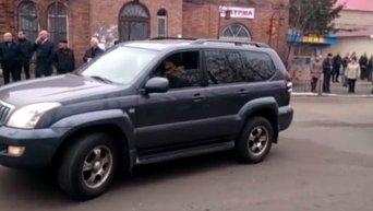 Кортеж Александра Захарченко в Дебальцево