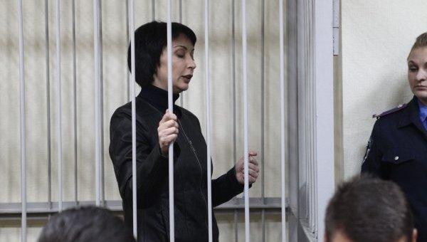 Экс-министр юстиции Украины Елена Лукаш в Печерском райсуде Киева