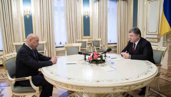 Геннадий Москаль и Петр Порошенко. Архивное фото