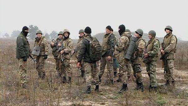 Разведка оперативного командования Запад ВСУ отрабатывает засаду