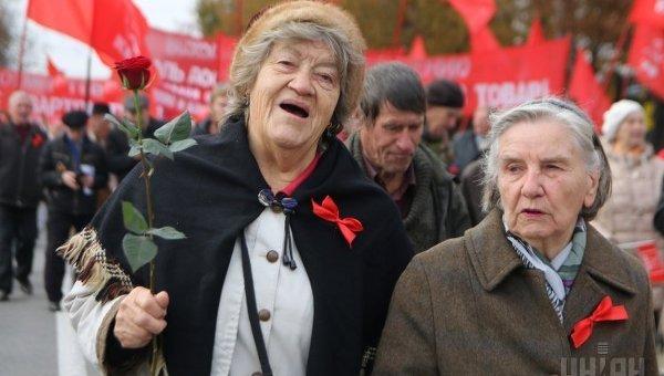 Митинг , посвященный годовщине Октябрьской революции
